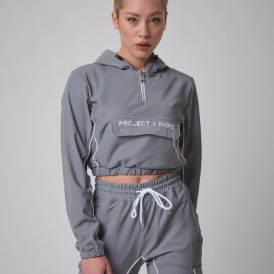Project x Paris – Reflective 3m Hooded Anorak – Silver