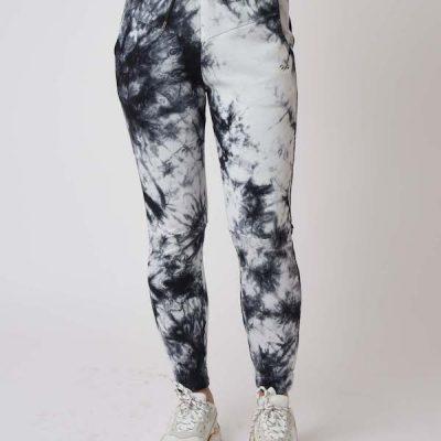 Project X Paris – Tie Dye Sweat Pants – Blk/Wht