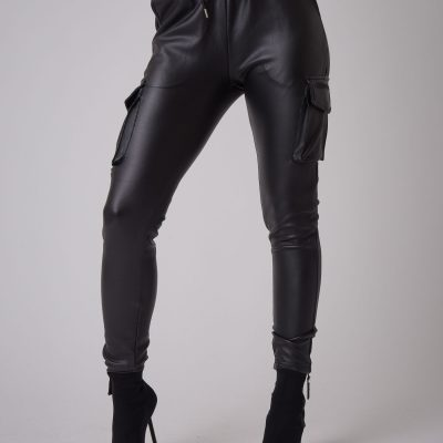 Project x Paris – Leather like Cargos – Black