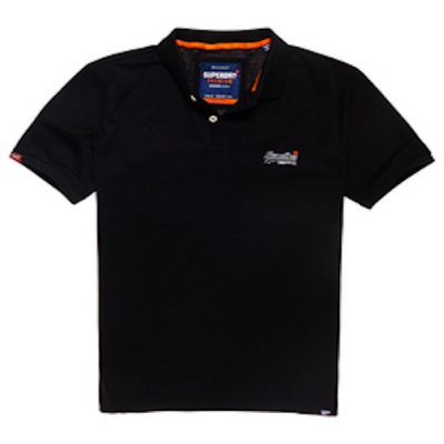 Superdry – classic micro pique polo – black