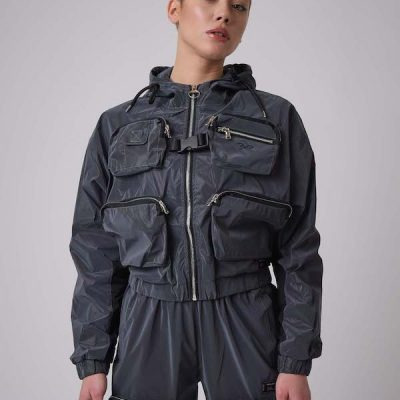 Project X Paris – Reflective Utility Jacket – Dk Silver