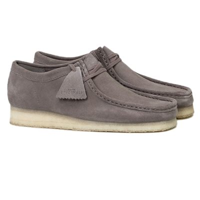 Clarks – Wallabee Lo – Grey Suede