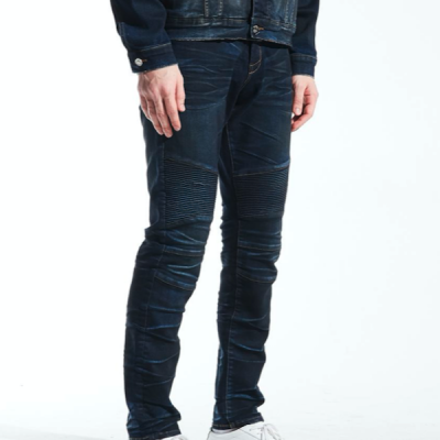 Embellish NYC – Bryce Biker Denim – Indigo