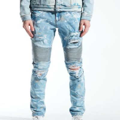 Embellish NYC – Hasting Biker Denim – Light Blue