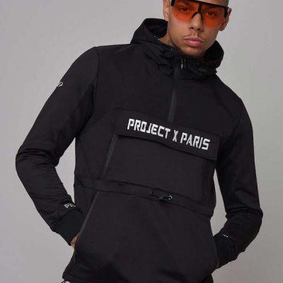 Project X Paris – Anorak Hoodie – Black