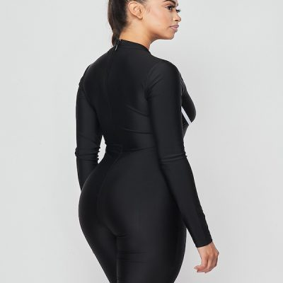 HD – Long sleeve Romper – Black