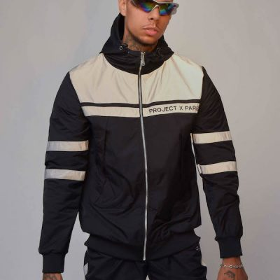 Project Paris – 3M zip-up windbreaker – Black