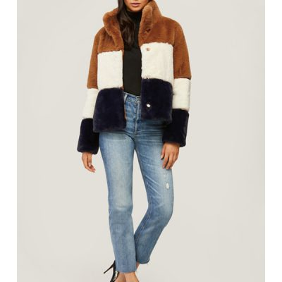 Soia & Kyo – Bea Faux Fur Jacket – Multi