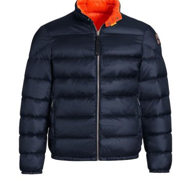 Parajumpers – Jackson Reversible Puffer Bomber – Blue/Carrot