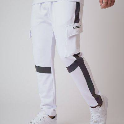 Project X Paris – Reflective Tape Cargo Joggers – White