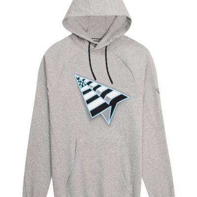 Paper Planes – Flag Hoodie – Grey