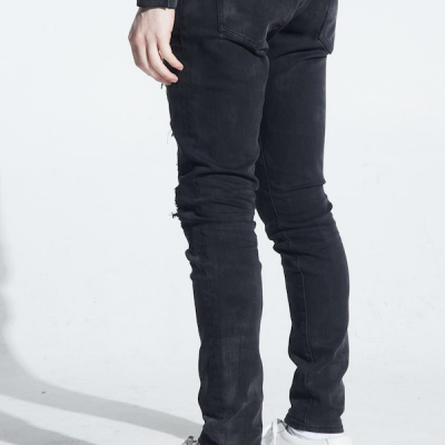 Embellish NYC – Blaney Rip & Repair Denim – Black