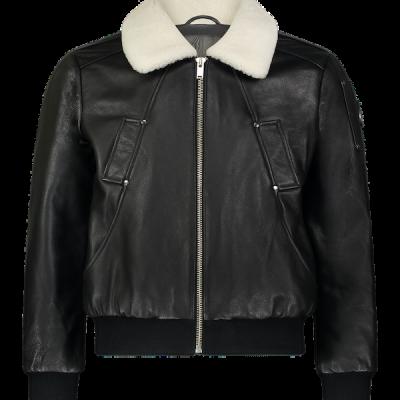 Moose Knuckles – Deer Park Leather Bomber – Black