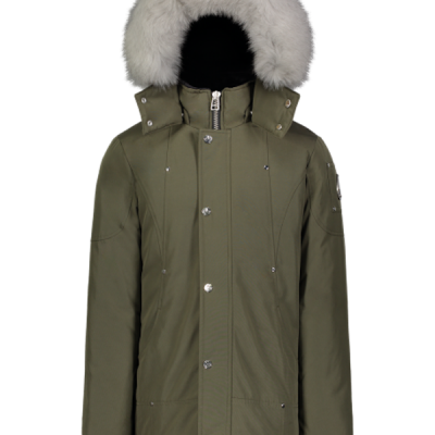 Moose Knuckles – Unisex Parka – Army w/ Natural fox fur