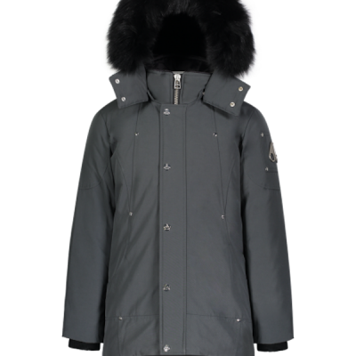 Moose Knuckles – Unisex Parka – Granite w/ Black fox fur