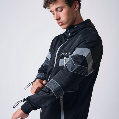 Project X Paris – 3m Tape Zip up Hoodie – Black