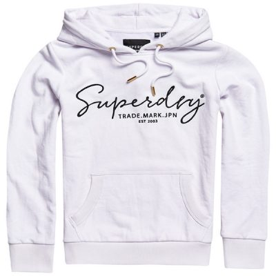 Superdry – Alice Embroidered Hood – White
