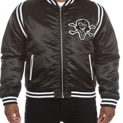 Ice Cream – Black out Varsity Jacket – Black