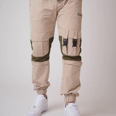 Project X Paris – Cargo Windbreaker Pants – Khaki
