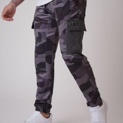 Project X Paris – Camo Buckle Cargo Pants – Black