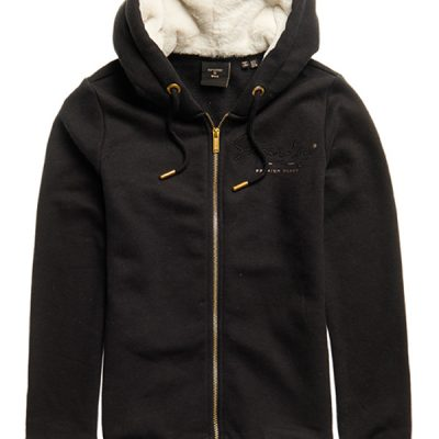 Superdry – Established Zip Hood – Black