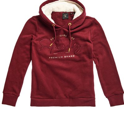 Superdry – Established Hood – Burgundy