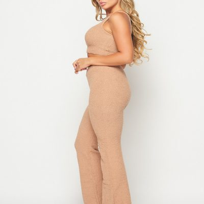 HD – Fuzzy Suit 2 piece set – Taupe