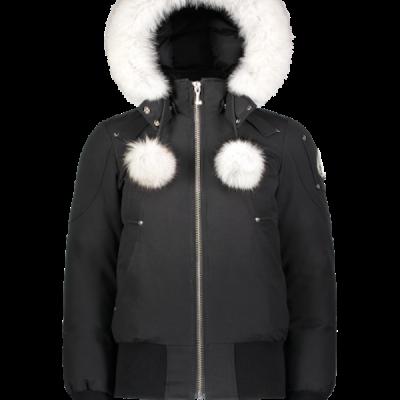 Moose Knuckles – Debbie Bomber – Black w/ White Fur