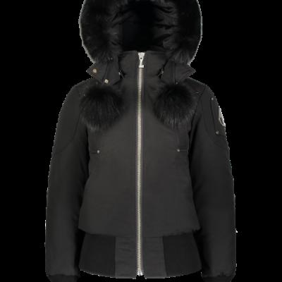 Moose Knuckles – Debbie Bomber – Black w/ Black fur