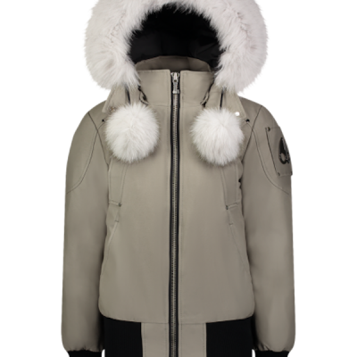 Moose Knuckles – Debbie Bomber – Moonwalk w/ White Fur