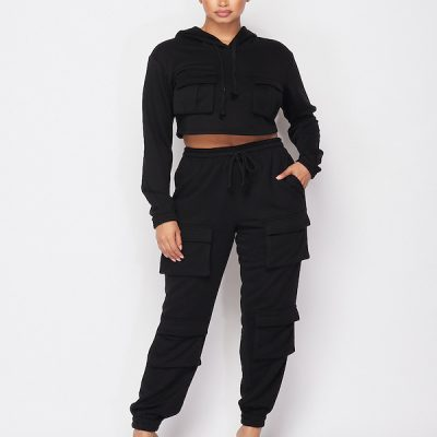 HD – Multi Pocket Sweat Set – Black