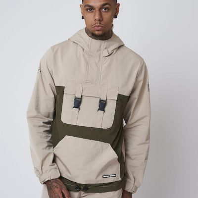 Project X Paris – Half Zip Buckle Anorak – Khaki