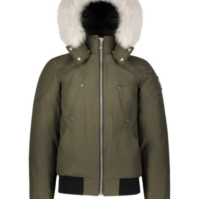 Moose Knuckles – Ballistic Bomber – Army w/ White Fur