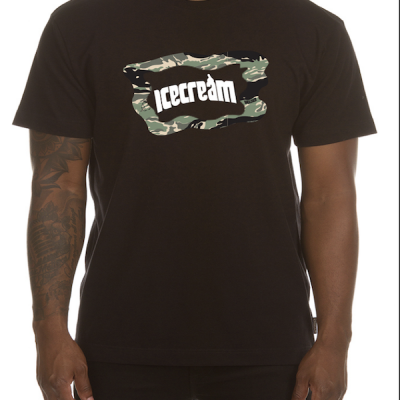 Ice Cream – Camo ss Tee – Black