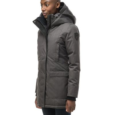 Nobis – Carla Mid Length Parka – Steel Grey