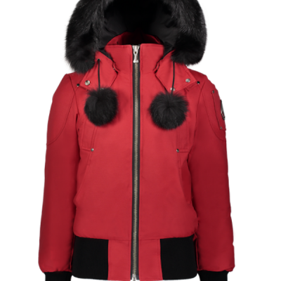 Moose Knuckles – Debbie Bomber – Red w/ Black Fur