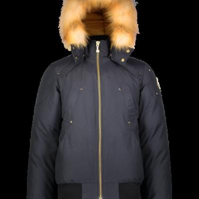 Moose Knuckles – Little Rapids Bomber – Navy w/ Gold Fur