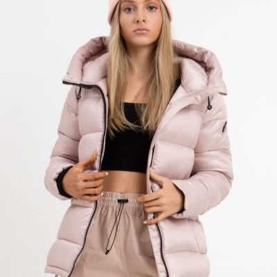 Point Zero – Ophelia Mid Length Puffer – Blush