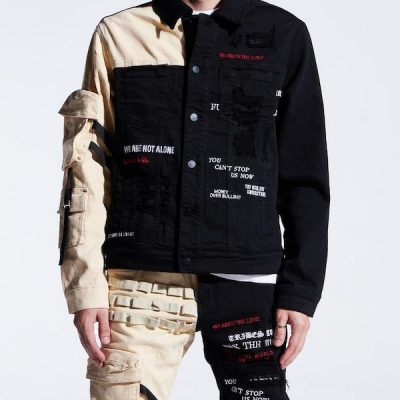 Embellish NYC – Outlaw Denim Jacket – Black/Khaki