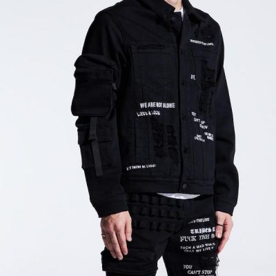 Embellish NYC – Raider Denim Jacket – Black