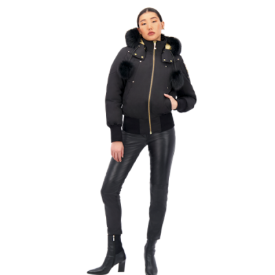 Moose Knuckles – Sainte Flavie Bomber – Black w/ Black Fur