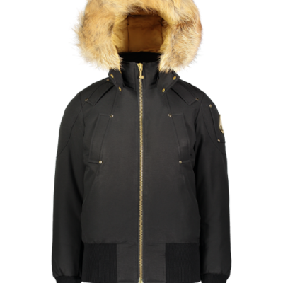 Moose Knuckles – Sainte Flavie Bomber – Black w/ Gold Fur
