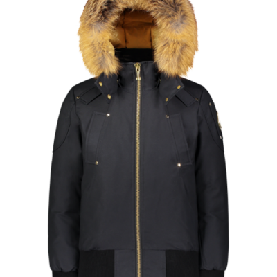 Moose Knuckles – Sainte Flavie Bomber – Navy w/ Gold Fur