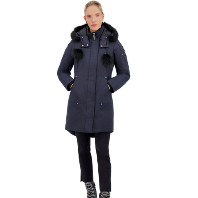 Moose Knuckles – Stirling Parka – Navy w/ Black Fur