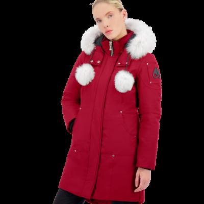 Moose Knuckles – Stirling Parka – Red w/ White Fur