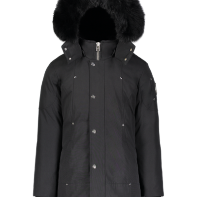 Moose Knuckles – Unisex Kids Parka – Black w/ Black Fur