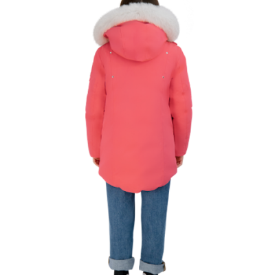 Moose Knuckles – Unisex Kids Parka – Pink w/ White Fur