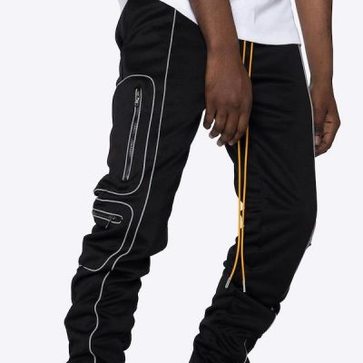 EPTM – 3M Piping track pants – Black