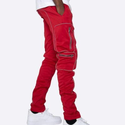 EPTM – 3M Piping track pants – Red