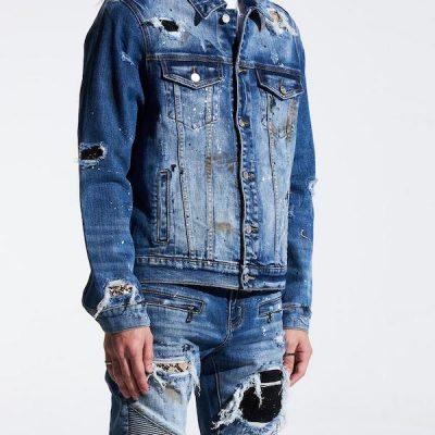 Embellish NYC – Crawley Denim Jacket – Blue